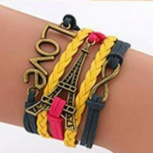 Jewelry - BRAND NEW YELLOW NAVY MAGENTA MULTI LAYER BRACELET